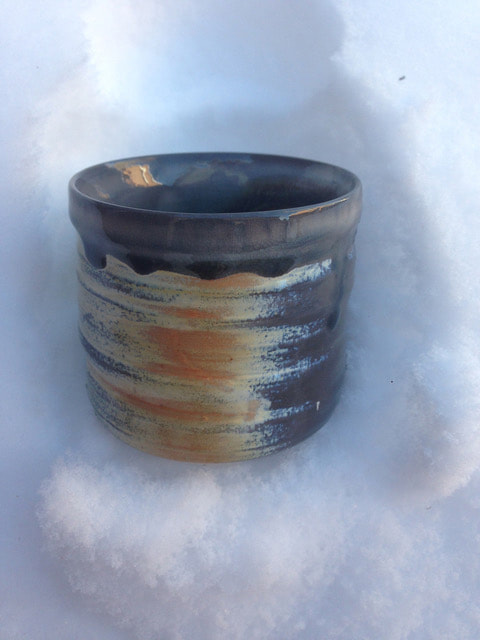 Soda fired cup by Nicole Copel