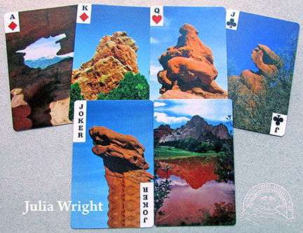 Garden of the Gods playing cards by Julia Wright