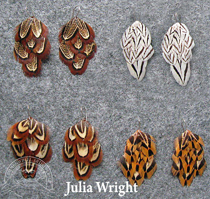 Feather earrings by Julia Wright