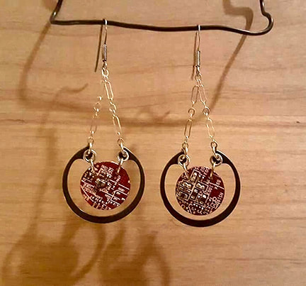 Darla Slee--Circuit Board Earrings
