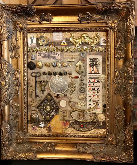 Barb St. Clair--Cabinet of Curiosities collage